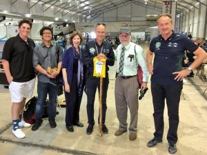 Junghyo Lee and Peter Lafford meet the Solar Impulse team on May 6, 2016.