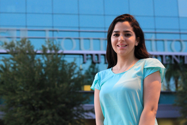 Computer engineering doctoral student Imane Lamrani will see some of the leading research labs in France this summer.