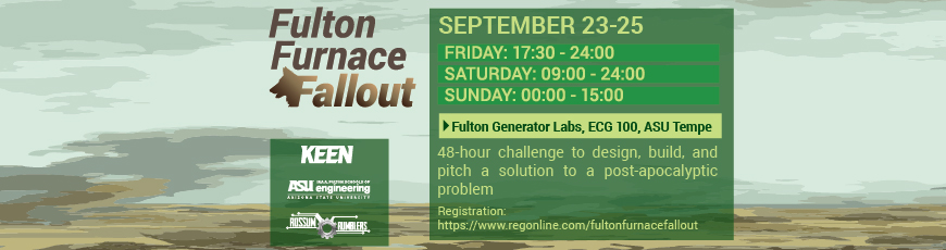 """Create post-apocalyptic tech at the Fulton Furnace """"Fallout"""" Hack-a-Thon, Sept. 23–25"""