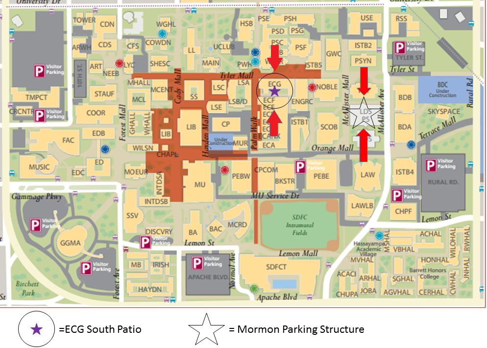 Event and parking location.