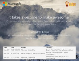 Microsoft Devices Team Info Sessions flier