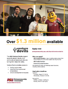 Flier for Venture Devils opportunities