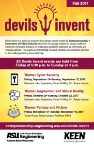 Devils Invent fall 2017 flier