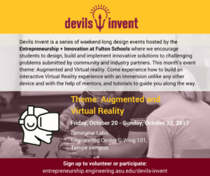 Devils Invent Virtual and Augmented Reality event flier