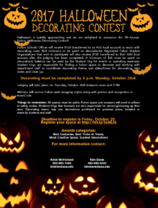 2017 Halloween Decorating Contest flier