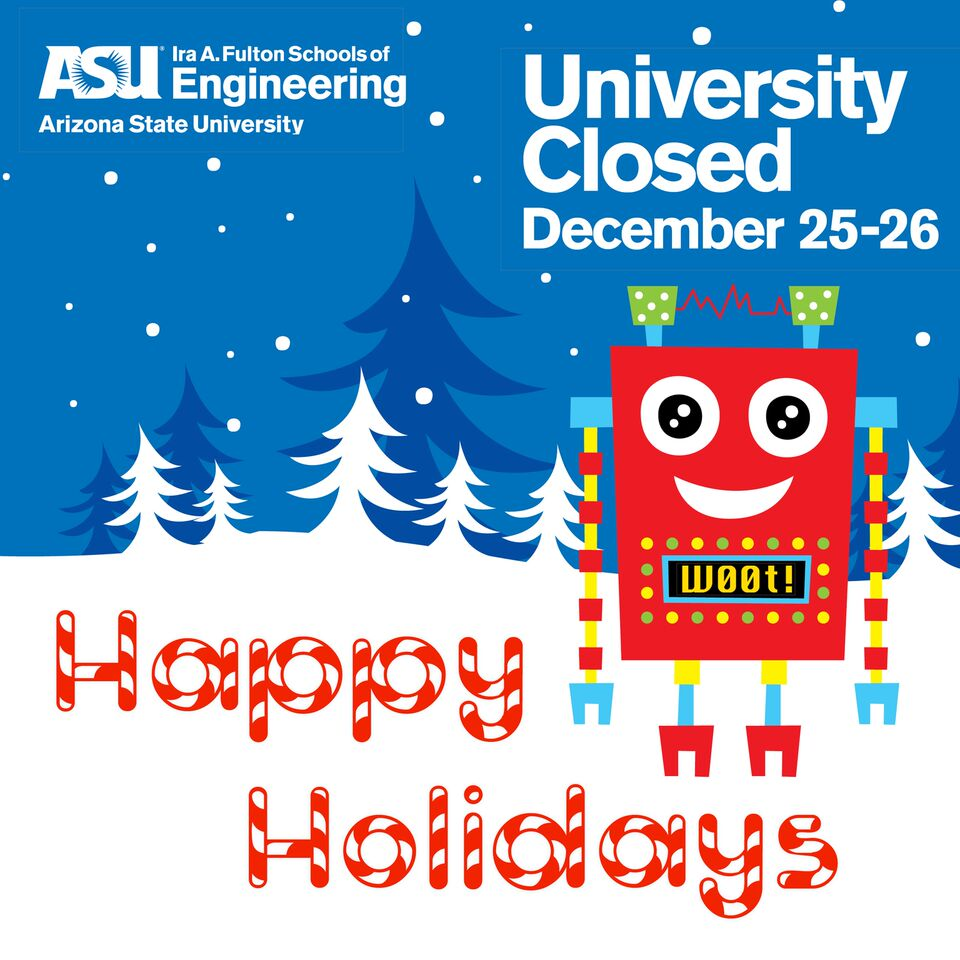 Happy Holidays, university closed