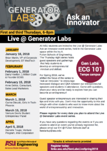 Live @ Generator Labs spring 2018 events