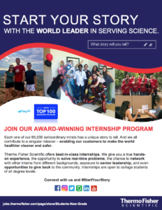 ThermoFisher Intern flier