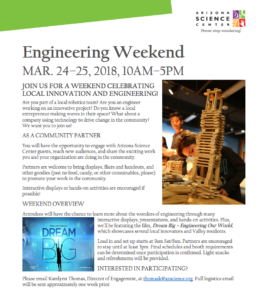 Engineering Weekend Flier