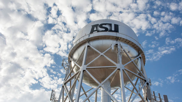 ASU water tower on the Polytechnic campus