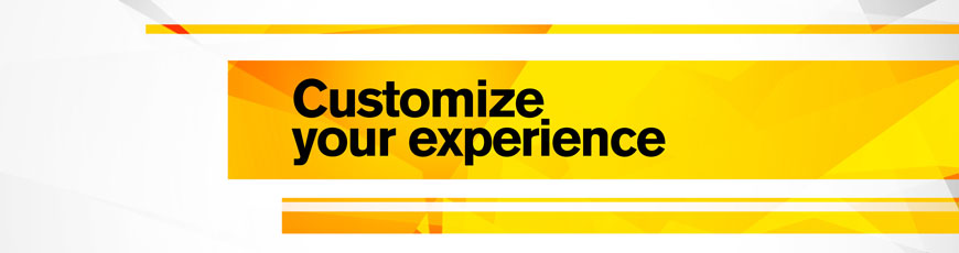 Customize your experience this spring!