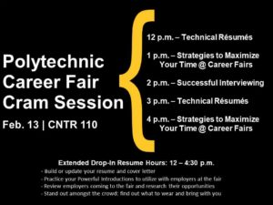 Polytechnic career fair cram session