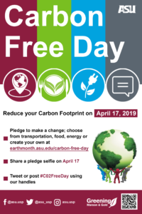 Carbon Free Day flier