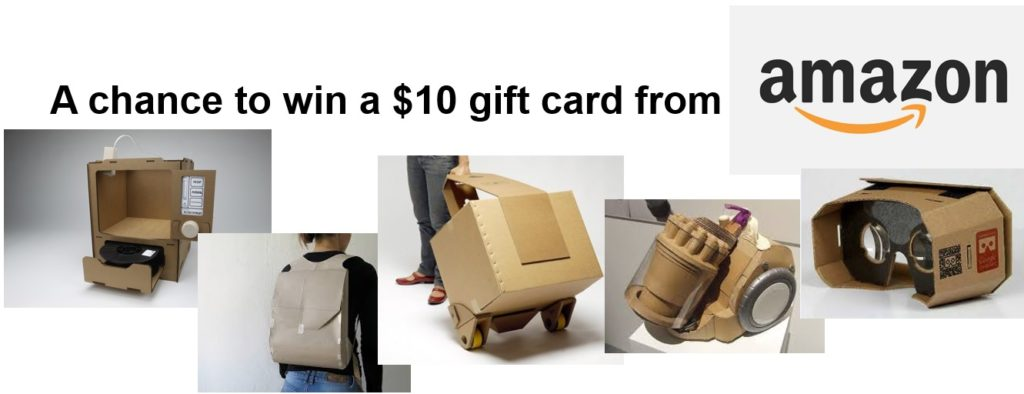 Prototyping survey and a chance to win a $10 gift card from Amazon