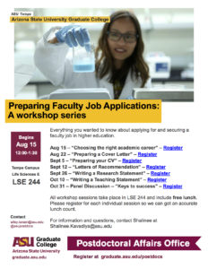 Preparing Faculty Job Applications: A workshop series