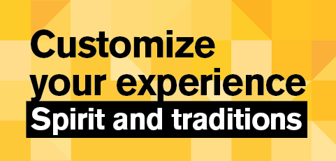 Customize your experience: Show your spirit