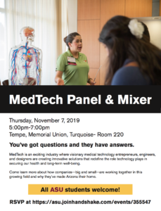 MedTech panel and mixer flyer