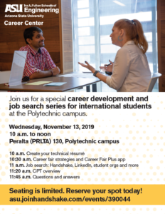 International Job Series flyer