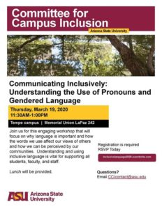 CCI: Communicating Inclusively