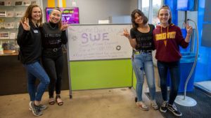 Society of Women Engineers at ASU members