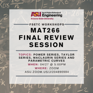MAT266 Final Review Session