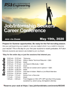 Job/Internship Seekers' Career Fair May 2019