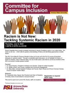 Racism is Not New: Tackling Systemic Racism in 2020