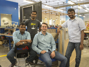 ASU engineering students who founded the venture Neolight