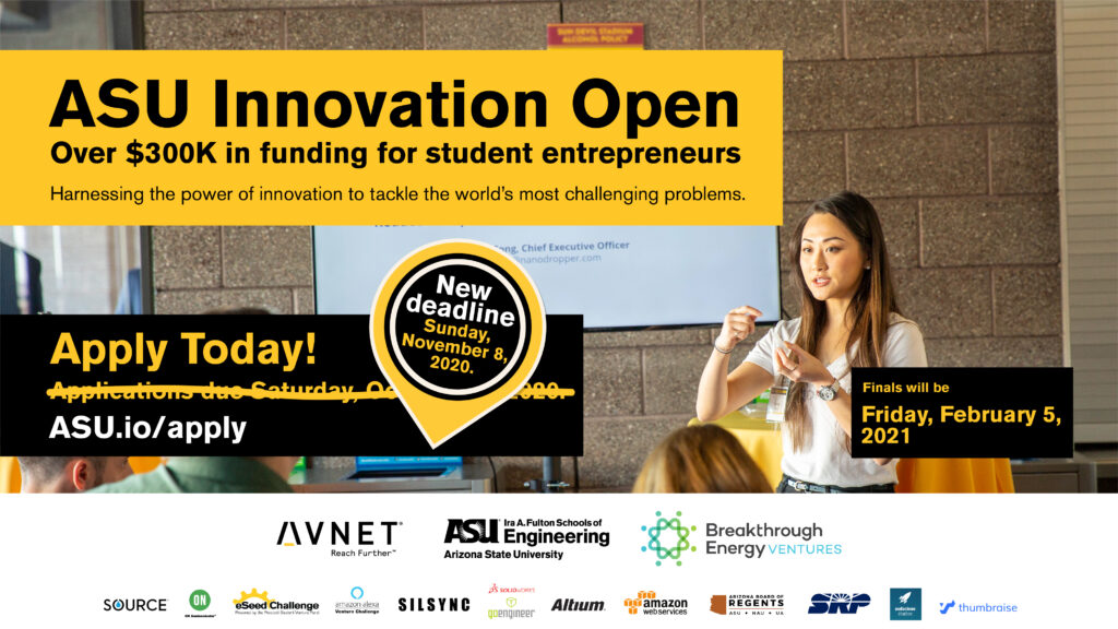 2020 ASU Innovation Open deadline extended