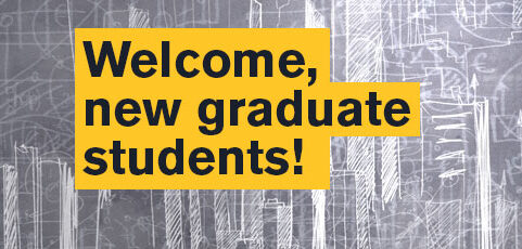New graduate students: Attend virtual welcome events August 17–10!