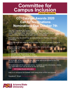 ASU Committee for Campus Inclusion Catalyst Awards 2020