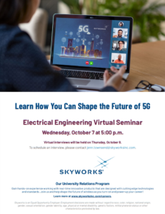 Electrical engineering virtual seminar with Skyworks