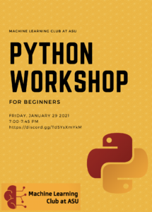 Python workshop flyer