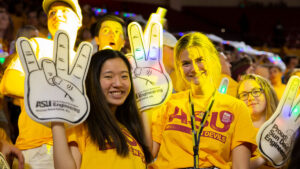 New engineering students at the ASU Sun Devil Welcome event