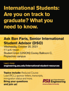 International Students: Am I on track to graduate? Polytechnic campus, October 20