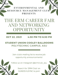 ERM Career Fair and Networking Event, October 22, 2021
